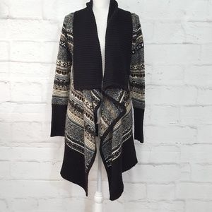 Kensie Drape Front Long Cardigan Sweater M